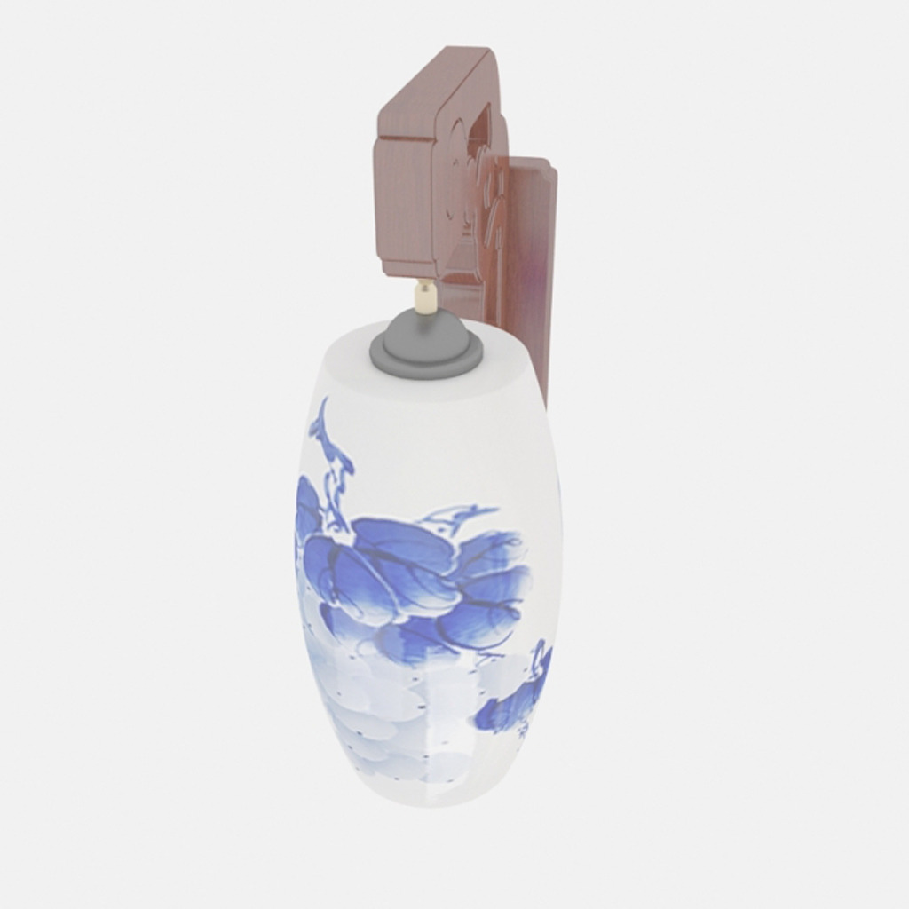 室内瓶子单体手绘