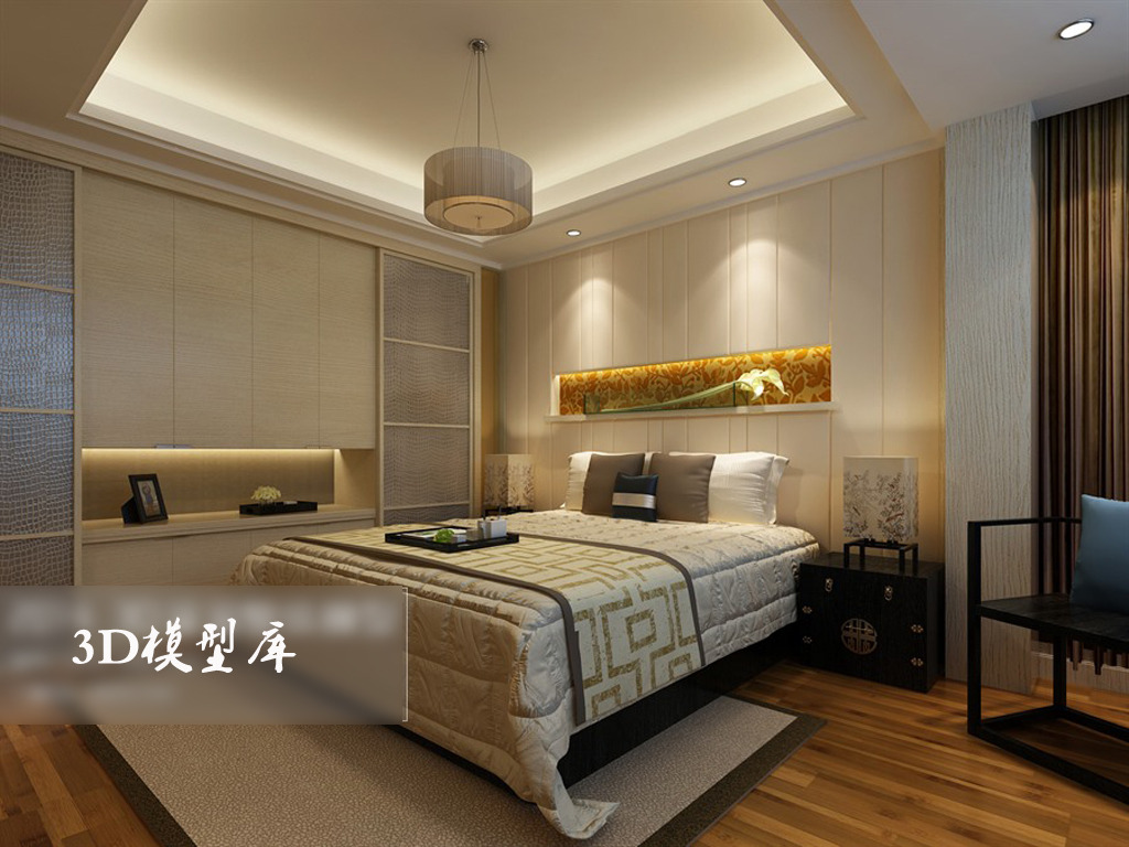 家装卧室效果图模板下载(图片编号:13531610)_家装_3d图片