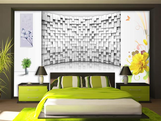 3d立体空间花纹电视背景墙装饰画