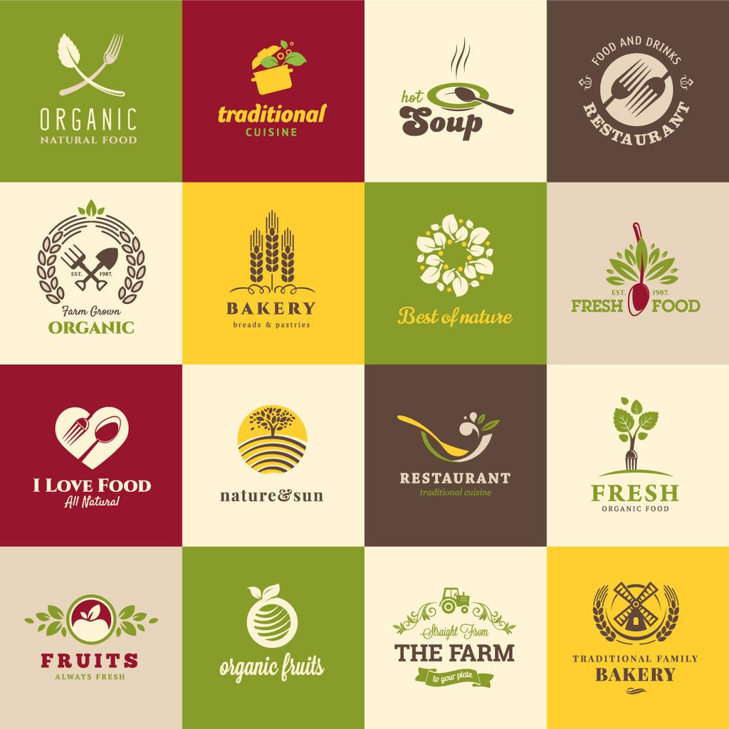 餐饮logo图标设计图片
