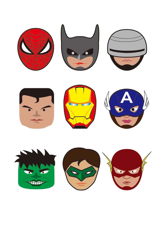 卡通超人头像图标