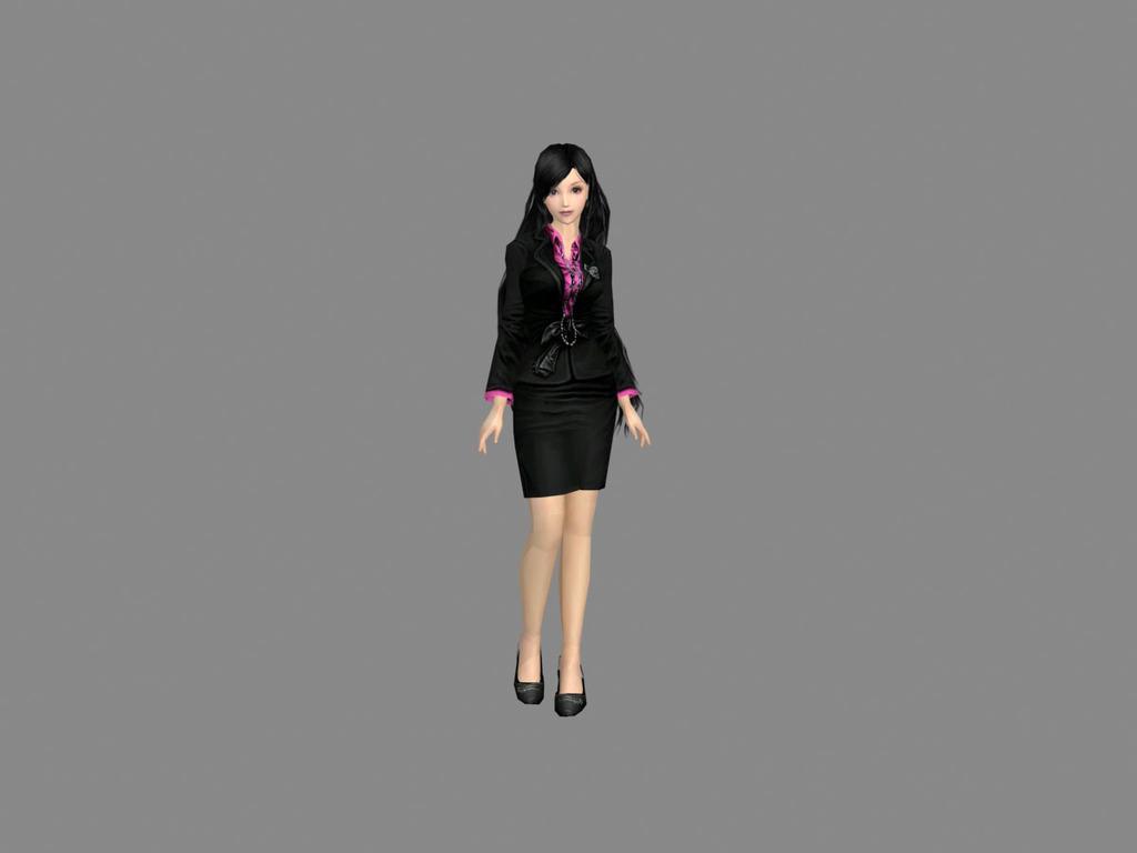 时尚职业装模特模型模板下载(图片编号:13535253)_3d