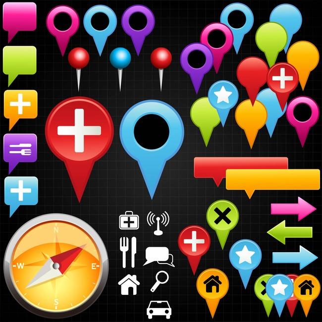 地图标点常用定位图标