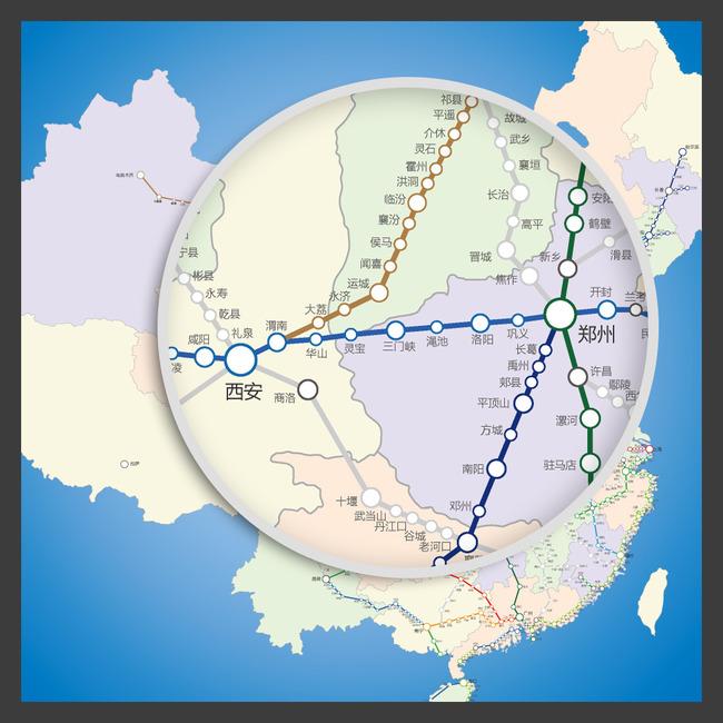 高铁站点 车站 中国地图 省份地图 矢量地图 广东 福建 浙江 江苏