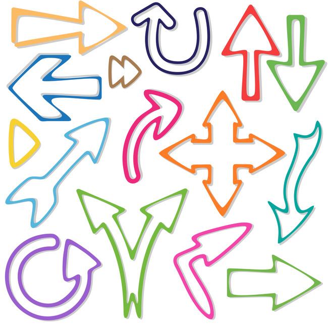 平面设计 图标 符号标识 > 彩色箭头图标设计  下一张&gt