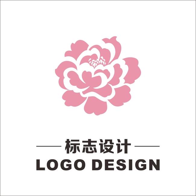 平面设计 标志logo设计(买断版权) 美容美发logo > 牡丹logo标志  下