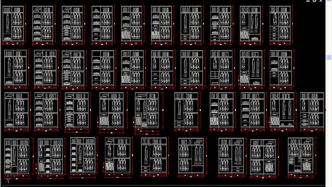 2015标准尺寸衣柜内部结构图集