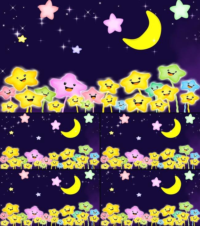 卡通星星月亮六一视频