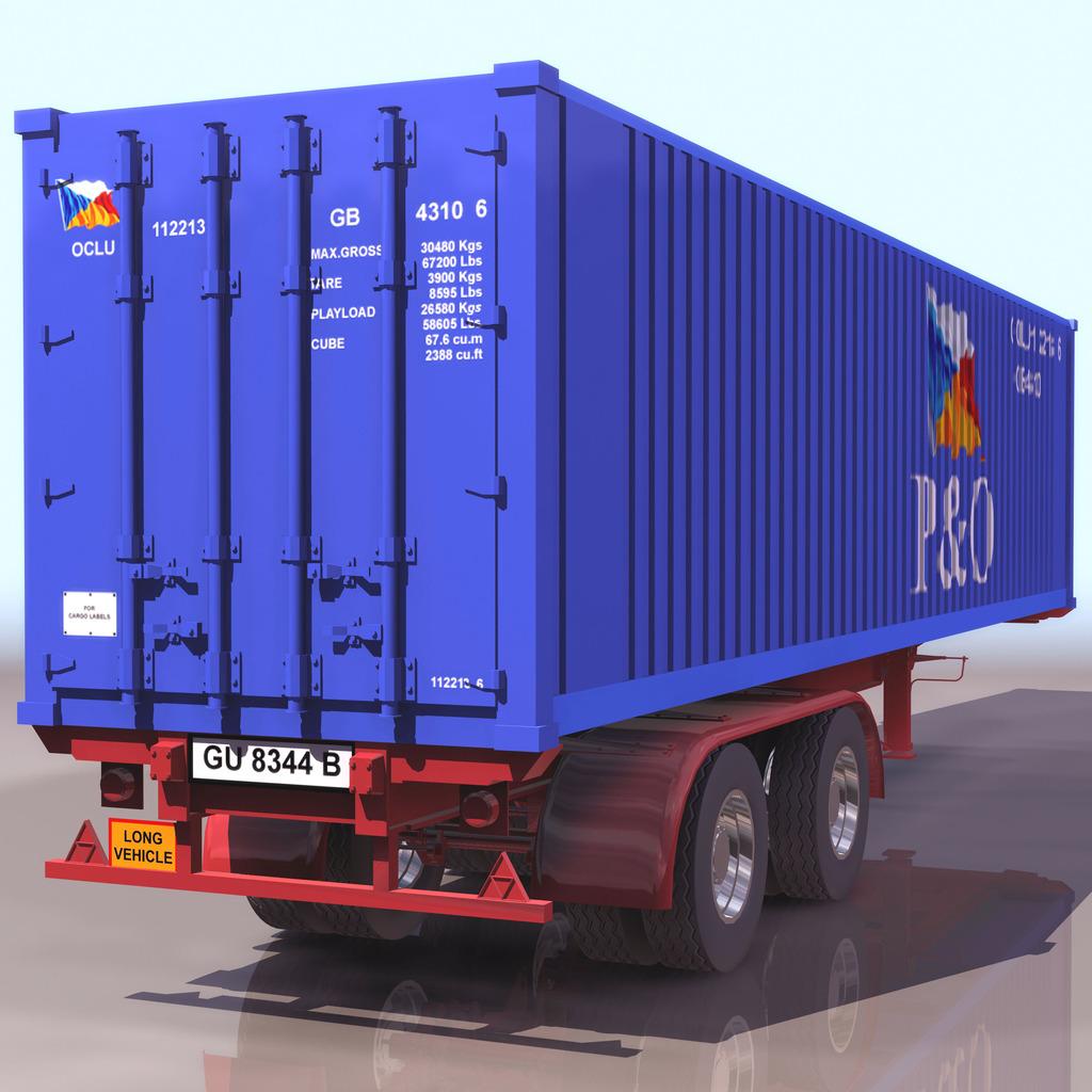 集装箱货车模型