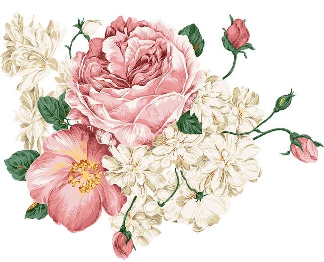 高精分层手绘花卉牡丹高清图片下载(图片编号13551262