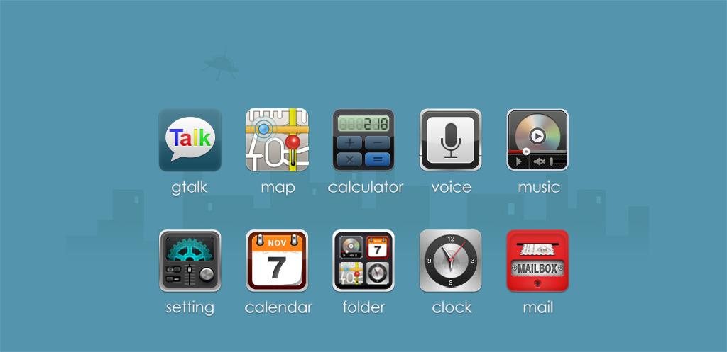 手机桌面图标标志设计