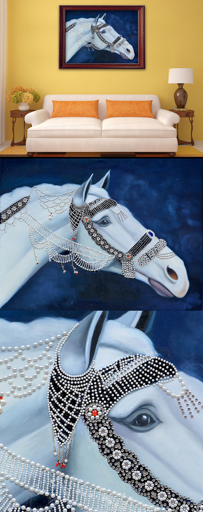 骏马手绘马头装饰画