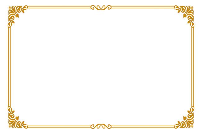 欧式古典边框花纹模板下载