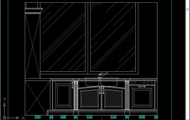 实木橱柜设计图纸