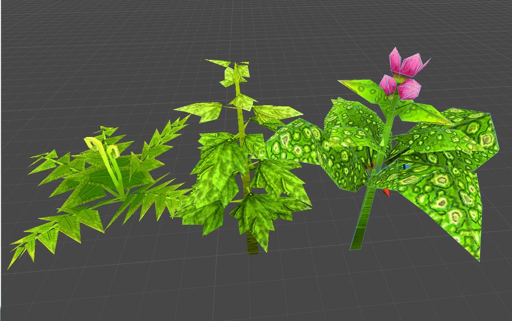 q版卡通植物模型