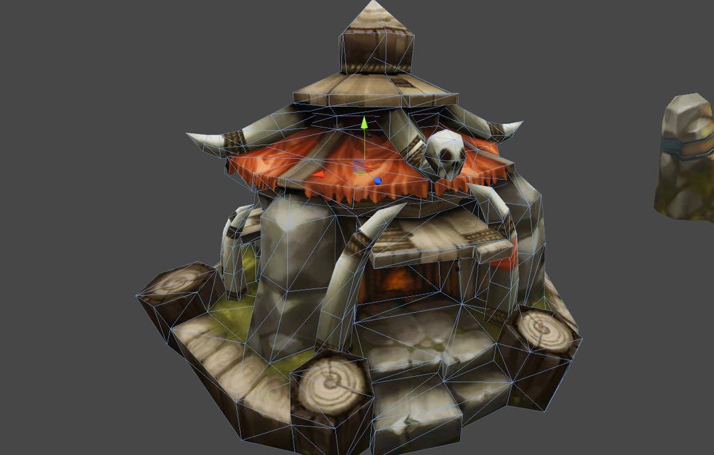 q版卡通兽人小建筑模型2