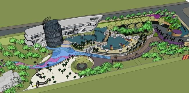 一套漂亮的公园广场su模型