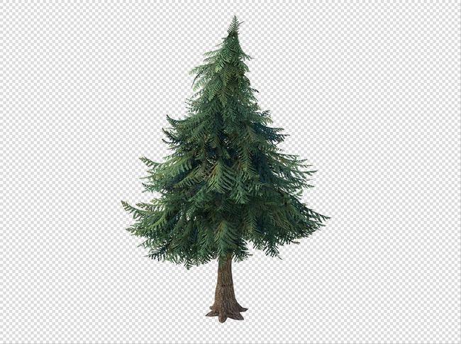 q版三维可爱卡通场景植物树木松树
