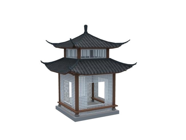 中式建筑模型图片