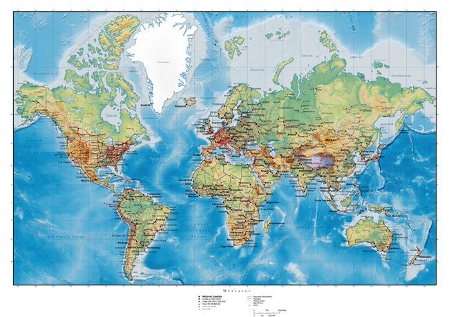 世界地图卫星图矢量图ai