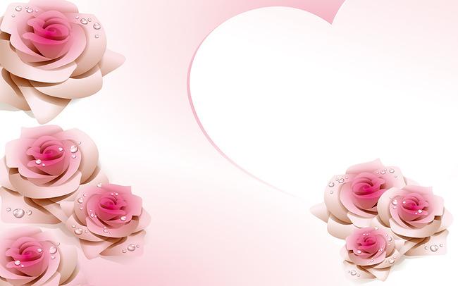 玫瑰花矢量立体图