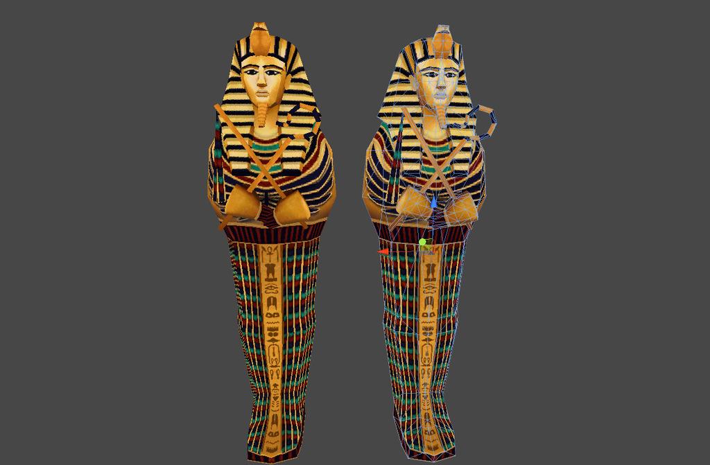我图网提供精品流行古埃及木乃伊法老王像棺材素材下载,作品模板源文件可以编辑替换,设计作品简介: 古埃及木乃伊法老王像棺材,,使用软件为 3DMAX 2011(.fbx) 古埃及