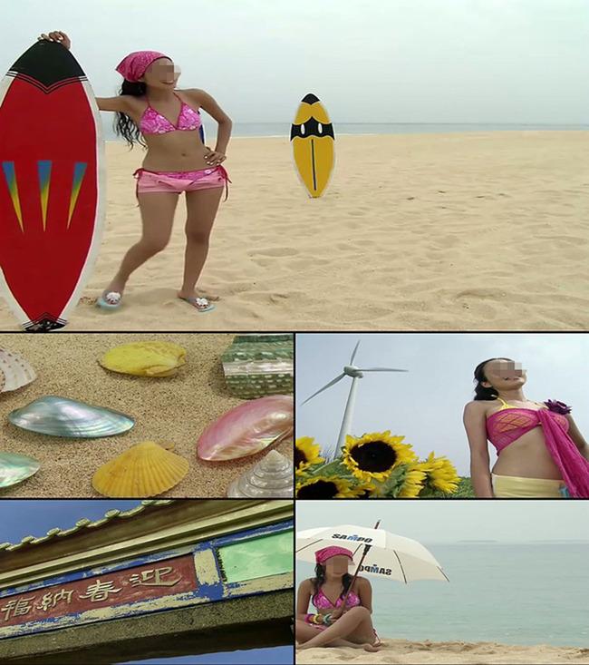 高清实拍美女海边视频