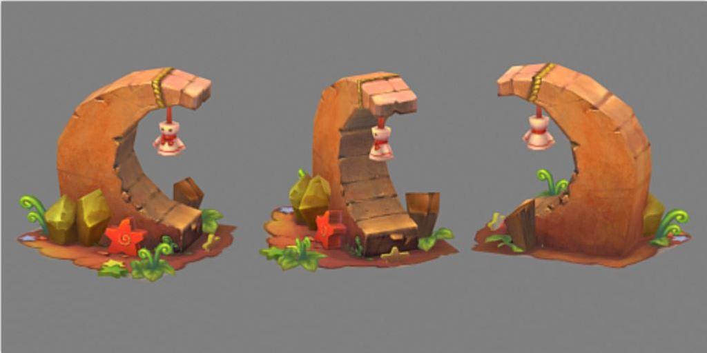 3d模型 cg模型 场景模型 > q版三维可爱卡通场景元素石头建筑水晶  下