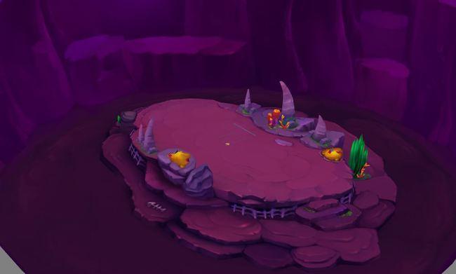 3d模型 3d游戏模型 场景3d模型 > q版三维可爱卡通游戏紫色山洞岩石