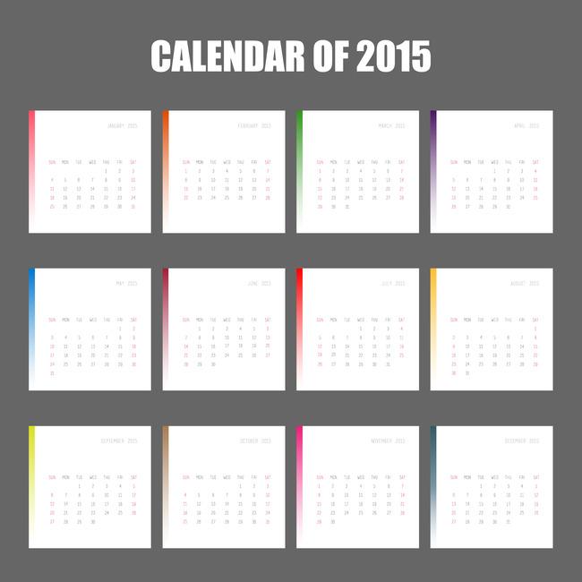 2015年月历月份牌图片