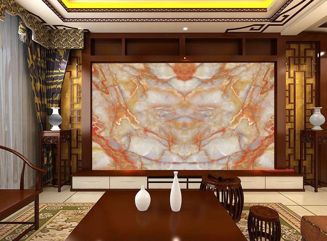 大理石欧式石纹电视背景墙