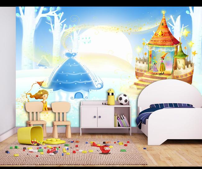 电视背景墙 客厅电视背景墙 > 精美儿童房卡通背景墙壁画  下一张&