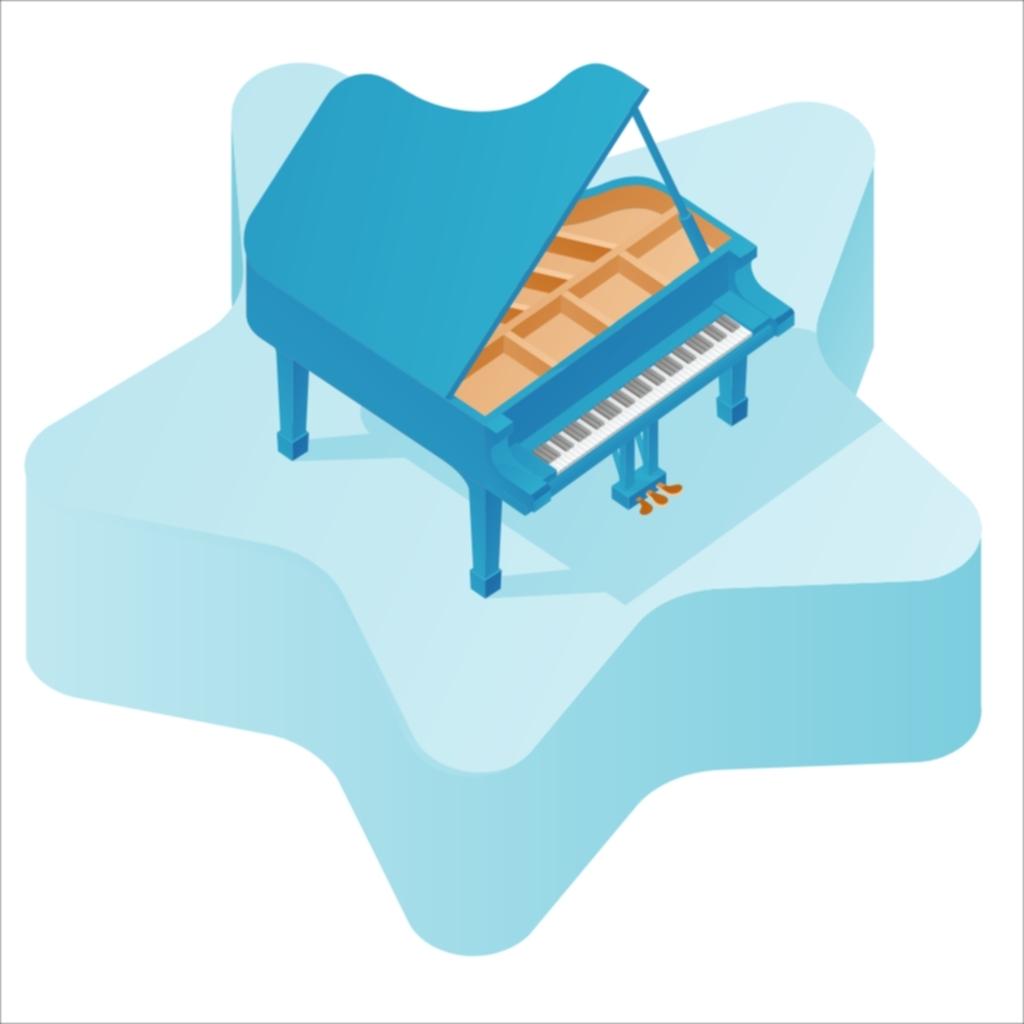 钢琴可爱卡通素材矢量儿童素材