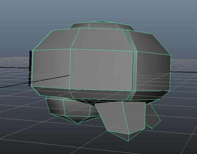 侵略者太空飞船模型fbx