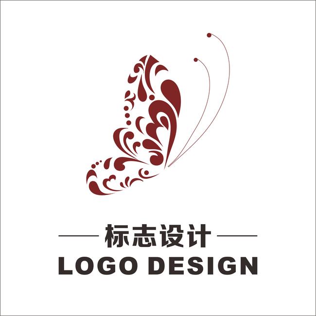 花蝴蝶logo标志