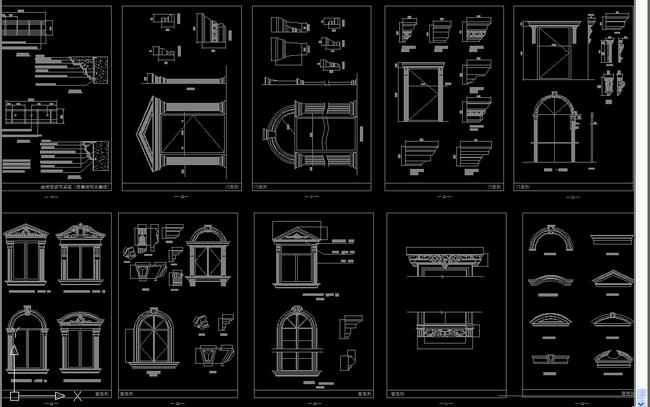 柱欧式装饰线条门窗图集模板下载(图片编号:)