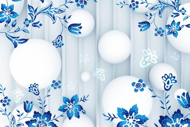 3d手绘花纹电视背景墙图片下载 3d球球 竖条纹 手绘文艺 时尚手绘