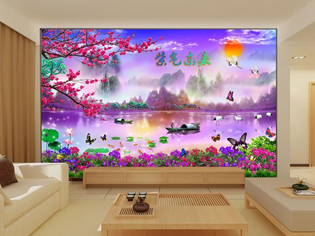 超精细手绘板电绘之紫气东来2