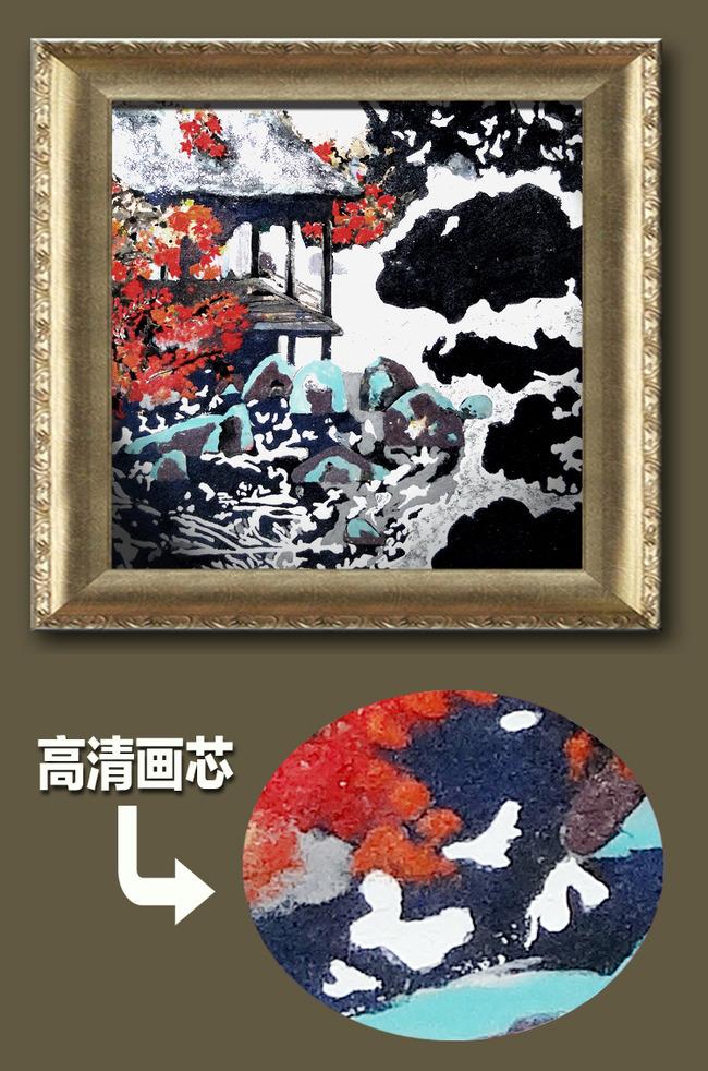 凉亭岩彩手绘壁画