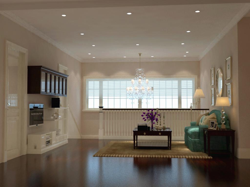 二层小客厅3d效果图下载