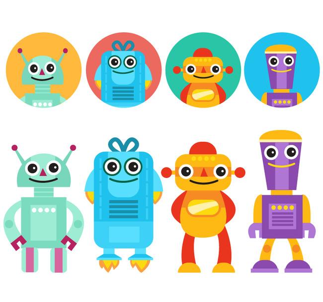 卡通机器人图片