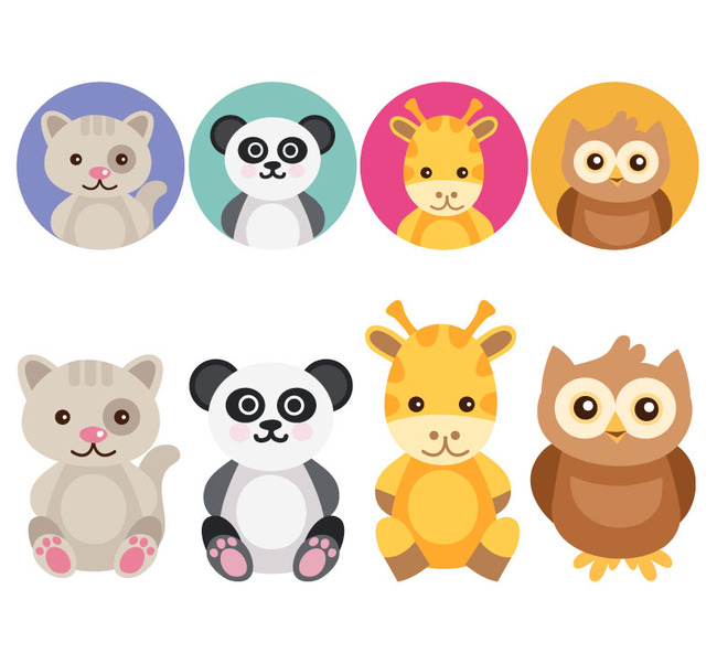 可爱动物与头像