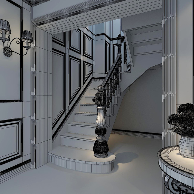 楼梯间效果图