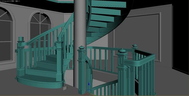 别墅实木楼梯设计图图片下载欧式别墅实木楼梯设计图
