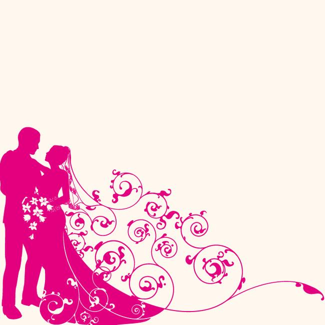 (ai)结婚人物矢量图