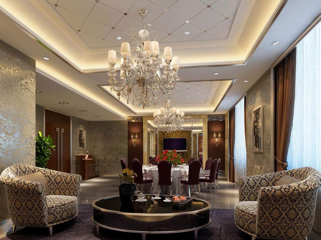 中国最大的设计作品交易平台 注册即可浏览清晰大图 别墅客厅效果图模