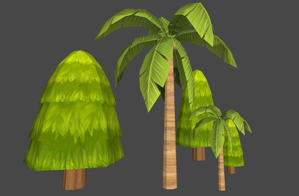 卡通植物树木椰树模板下载(图片编号:13609250)
