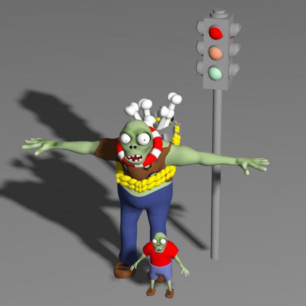 植物大战僵尸游戏3D模型模板下载(图片编号:1
