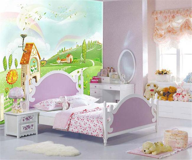 背景墙|装饰画 壁画 手绘壁画 > 卡通城堡儿童房床头背景壁画