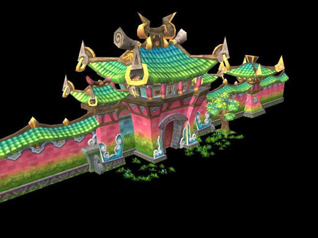 3d模型 cg模型 场景模型 > q版游戏城墙  下一张> [版权图片